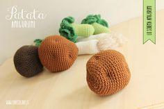 Siete pronte per il 3° schema del corso di AMIGURUMI? Oggi lavoreremo il tubero più famoso al mondo: la patata a uncinetto. Crochet Fruit, Crochet Food, Diy Crochet, Fake Food, Play Food, Afghan Crochet Patterns, Kids Toys, Free Pattern, Diy Crafts