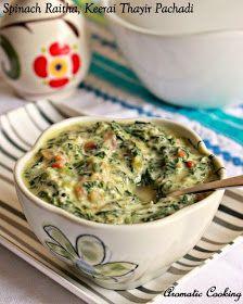 Spinach Raitha, Keerai Thayir Pachadi
