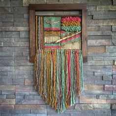 Etsy の Woven wall hanging by Telaresyflecos
