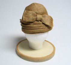 1950's Christian Dior Burlap Turban with Bow by MimiCloset on Etsy, $250.00