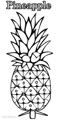 Printable Pineapple Coloring Pages For Kids