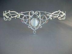 SilverMoon Circlet Headpiece Wedding Bridal Celtic by ElnaraNiall, $354.99