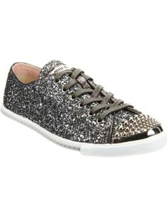 Seriously glittery sneakers! These and a long ball gown!