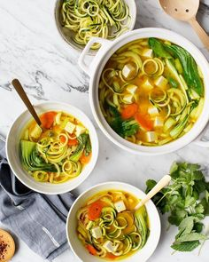 Golden Turmeric Noodle Miso Soup recipe from Love and Lemons
