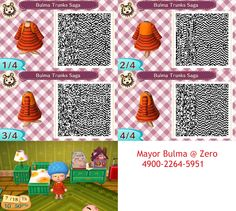 Bulma QR code from Trunks Saga #dragonball #acnl #newleaf #animalcrossing