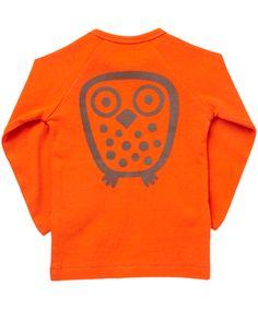 Ej Sikke Lej fancy orange basic owl t-shirt. ej-sikke-lej.en.emilea.be
