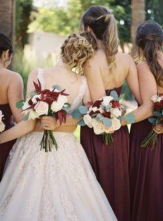 merlot bridesmaid dresses | bridesmaids style inspiration | fall wedding inspiration