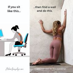 Yoga Poses : Let's getstretchyatwork in our chest, pecs, and fronts of our shoulders, because so many of us are really getting STUCK in bad postures and… Fitness Workouts, Yoga Fitness, Fitness Motivation, At Home Workouts, Health Fitness, Arm Workouts, Training Workouts, Work Motivation, Circuit Training