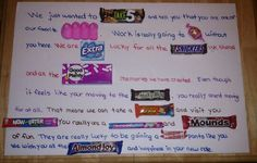 Funny candy story for a boss or co worker leaving
