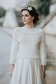 cardigan mariée tricot mariée pull mariee pull pour la mariée, en laine  merinos paulette,
