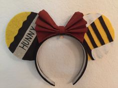 Disney's Winnie the Pooh Inspired Minnie Mouse Ears by teilormade