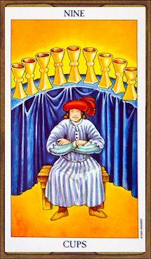 Nine of Cups - Tarot Card Meaning & Interpretation
