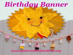 Happy Birthday ... by Patterns Tried and True | Crocheting Pattern - Looking for your next project? You're going to love Happy Birthday Cupcake Banner by designer Patterns Tried and True. - via @Craftsy