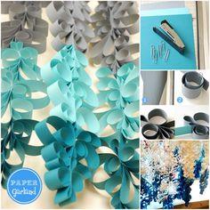 How to DIY Fabulous Scroll Paper Garland | www.FabArtDIY.com #tutorial, #papercrafts, #homedecor, #garland Follow us on Facebook ==> https://www.facebook.com/FabArtDIY