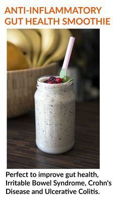 This smoothie is the perfect gut health remedy; packed full of anti-inflammatories. This smoothie will help soothe and heal the gut; it's a great smoothie for those suffering with irritable bowel syndrome, crohn's disease and ulcerative colitis.