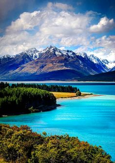 Lake Pukaki, Nepal    Give me some snowcapped #mountains and a body of water and I'm in love! Sign me up, #Nepal :-) #travel #wanderlust #nature #scenery #beautiful