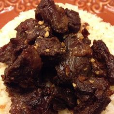US beef salpicao on garlic rice of TOSH. Yum! #nofilter #food