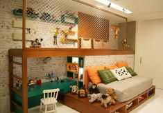 Brinquedoteca: deixe a brincadeira ainda mais divertida para os pequenos Baby Bedroom, Baby Boy Rooms, Home Bedroom, Kids Room Design, Home Room Design, Jugendschlafzimmer Designs, Teen Bedroom Designs, Wall Decor Design, Dream Rooms