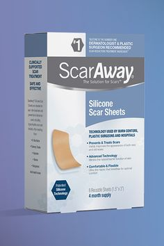 A scar is forever. Or so you thought. Fade your scar and your self-consciousness with ScarAway. Whether you have a scar on your knee, foot, hand, or cheek, you can diminish its appearance with ScarAway. It's doctor-recommended with medical-grade silicone for shrinking, flattening and fading scars. It's the same technology used by plastic surgeons and hospitals. Best of all, it works. Reclaim your skin and restore your confidence with ScarAway. Available on Amazon.