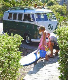 Go Surf - Green #VWBUS Volkswagen Bus VW ☮ pinned to https://www.pinterest.com/wfpblogs/vw-bus/