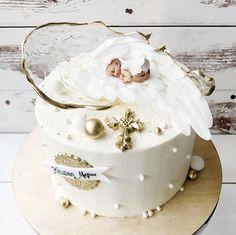 Money Birthday Cake, 1st Birthday Cakes, Torta Baby Shower, Torta Angel, Baptism Desserts, Brithday Cake, Drop Cake, Baby Girl Cakes, Butterfly Cakes