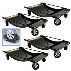 3-5-034-HD-4-PC-Set-Tire-Wheel-Dollies-Dolly-Vehicle-Car-Auto-Repair-Moving-Diamond