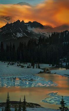 Sunset At Tipsoo Lake, By Arman Anuraj.