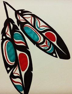 Haida Eagle Feathers - Black by Mammomax7432.deviantart.com on @deviantART