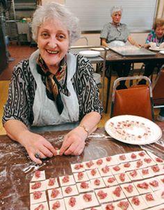 Making Armenian manti in Watertown, Mass.