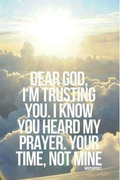 Yes....and he has heard your prayer as well. YES YOU READING THIS. BE BLESSED!