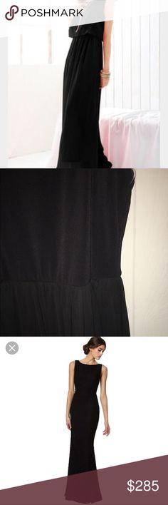 Alice +Olivia black cocktail dress Bloomingdales Black with leather trim around neckline Alice + Olivia Dresses Maxi