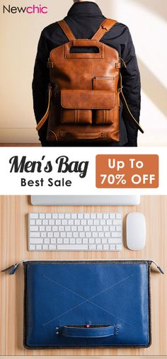 【Shop OFF Casual Multifunction Backpack & Crossbody Bag for Men NewChic – your private wardrobe, OFF on casual multifunctional backpacks and shoulder bags, cool price, but top quality! Leather Backpack For Men, Leather Wallet, Diy Rucksack, Herren Outfit, Leather Working, Backpack Bags, Bag Accessories, Ideias Fashion, Shoe Boots