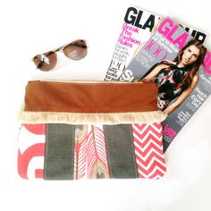 Pink Clutch Everyday Clutch Clutch Wallet Purse by Mdowlingdesigns
