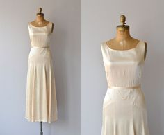 Lux Eterna gown 1930s wedding dress  bias silk 30s by DearGolden