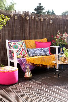 Bohemian Outdoor Patio Boho Porches You'll Never Want To Leave DigsDigs. 25 Modern Backyard Ideas To Create Beautiful Outdoor Rooms . Home and Family Oak Furniture Land, Garden Furniture, Outdoor Furniture Sets, Furniture Ideas, Furniture Companies, Luxury Furniture, Patio Chico, Bohemian Patio, Bohemian Garden Ideas