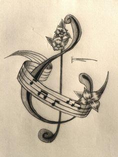 Music Tattoo by ~xx0vicky0xx on deviantART