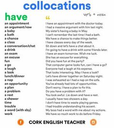 My 4th junior high english class: HAVE collocations