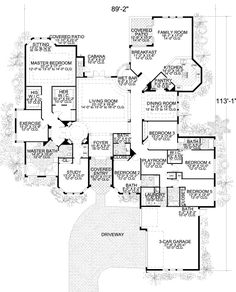 big 5 bedroom house plans |  feet, 5 bedrooms, 4 batrooms, 3