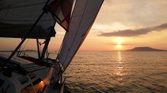 Sun, Balaton, sailing