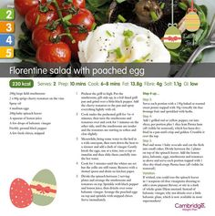 Florentine Salad with Poached Egg (Steps 2, 3, 4 & 5)