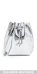 Maiyet Sia Medium Bucket Bag In Mirror Metallic Leather, Real Leather, Leather Purses, Leather Handbags, Shoulder Handbags, Shoulder Bags, Metallic Handbags, Leather Shoulder Bag, Bucket Bag