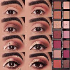 Charlotte Tilbury Luxus Make-up Sephora Huda Schönheit Natasha Denona Kyli Makeup Eye Looks, Eye Makeup Steps, Skin Makeup, Eyeshadow Makeup, Contouring Makeup, Golden Eyeshadow, Eyeshadow Palette, Eyebrow Makeup, Eyeshadows