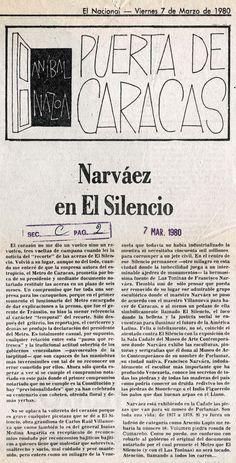 Narváez en El Silencio. Por Aníbal Nazoa, publicado en 1980
