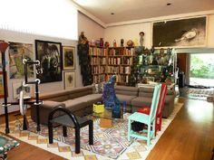 An art collector's home.