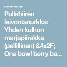 Pullahiiren leivontanurkka: Yhden kulhon marjapiirakka (pellillinen) / One bowl berry bars