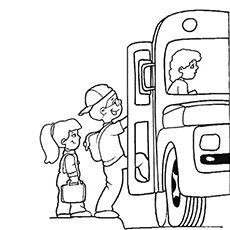 School Bus Safety Coloring Pages … | School bus safety ...