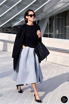 デートスタイル ボリュームフレアスカート 淡色