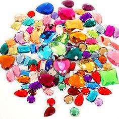 BLINGINBOX 300pcs//pack Mixed Shapes Crystal Acrylic Sew On Rhinestones Mixed Sizes Sewing Rhinestones Acrylic Stass Crystal AB