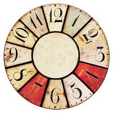 Paper Clock, Clock Art, Clock Decor, Clock Face Printable, Shabby Chic Clock, Wood Clocks, Decoupage Paper, Handmade Home Decor, Designer Throw Pillows