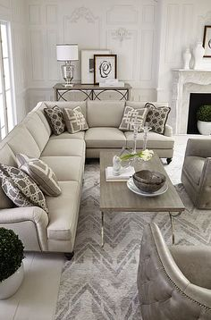 Design Guide How to Style a Sectional Sofa Living rooms Room and